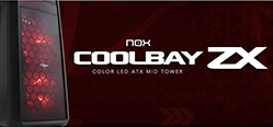 Review Nox Coolbay ZX Red + H-FAN LED - RED